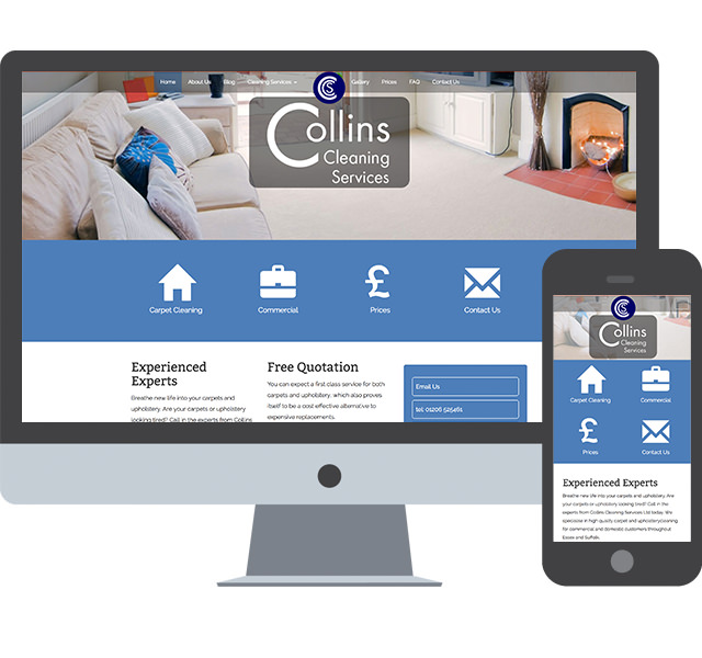 Responsive Web Design for Collins Cleaning
